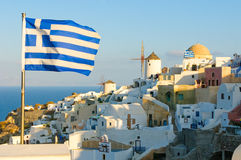 Oia village at Santorini island, Greece Royalty Free Stock Images