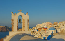 Oia village at Santorini island, Greece Stock Photo