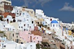 Oia village at Santorini island in Greece Royalty Free Stock Photo