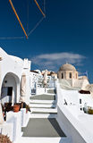 Oia village of Santorini island in Greece Stock Images