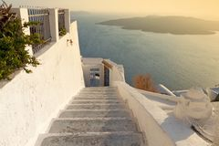 Oia village at Santorini island in Greece Stock Image
