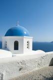 Oia village at Santorini island. Greece. Blue Church Oia village at Santorini island. Greece Stock Photo