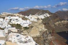 Oia Village in Santorini Island Stock Image