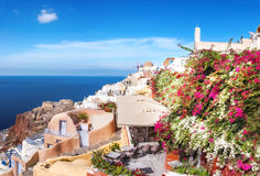 Oia village, Santorini island, Greece, on a bright day Royalty Free Stock Images