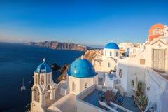 Oia village on Santorini island in Greece Royalty Free Stock Photography