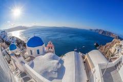 Oia village on Santorini island in Greece Stock Photo