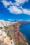 Oia village on Santorini island in Greece Royalty Free Stock Photo