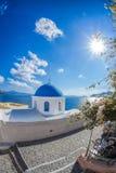 Oia village on Santorini island in Greece Stock Image