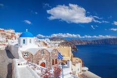 Oia village on Santorini island in Greece Royalty Free Stock Photos