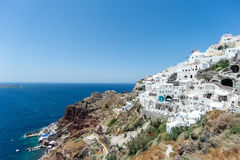 Oia Village, Santorini Island, Greece. Greek island of Santorini, Oia Village stock images