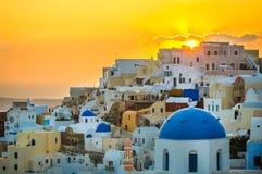 Oia village at Santorini island, Greece Royalty Free Stock Image