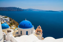 Oia village in Santorini island, Greece Royalty Free Stock Image