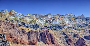 Oia village on Santorini island, north, Greece Stock Photography