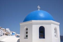 Oia village in Santorini island Stock Photography