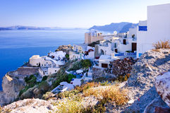 Oia village scenic view Royalty Free Stock Images
