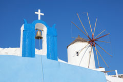 Oia village, typical view Stock Images