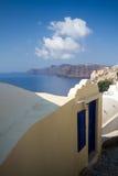 Oia. Village and view of caldera, santorini Stock Photography