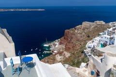 Oia. Village view , santorini, greece Stock Image