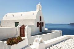 Oia Village White Church Stock Image