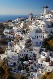 Oia windmill in island of Thira (Santorini - Cycla stock image