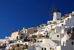 Oia windmill, Santorini Stock Photo