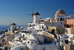 Oia windmill, Santorini - Cyclades, Greece Stock Photos