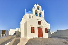 Oia wioska w ranku świetle, Santorini, Grecja Obraz Stock