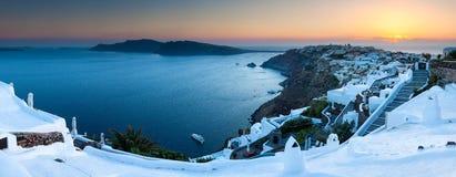 Oia Zonsondergang Santorini Royalty-vrije Stock Fotografie