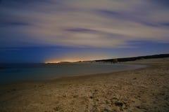 Oicture der nächtlichen Himmel mit langer Belichtung Stockfotos