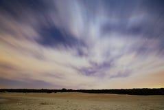Oicture der nächtlichen Himmel mit langer Belichtung Stockbilder