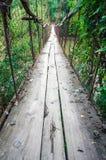 OId γέφυρα καλωδίων σκουριάς Στοκ Εικόνες