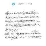 Oidentifierad abstrakt handskrift klottrar Royaltyfria Bilder