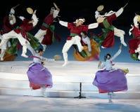Oidentifierad artistshow den koreanska kulturen Royaltyfri Foto