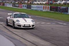 Oidentifierad chaufför Porsche 911 GT2 RS4 Royaltyfri Bild