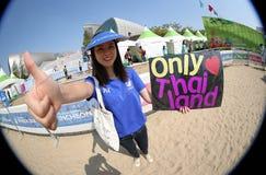 Oidentifierad fan av Thailand Arkivbilder