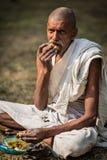 Oidentifierad gammal indisk man Fotografering för Bildbyråer