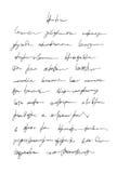 Oidentifierad handskrift klottrar Royaltyfri Bild