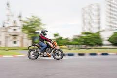 Oidentifierad hertig 200 för provchaufför KTM Royaltyfria Foton