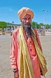 Oidentifierad indisk sadhu i Jaisalmer, Rajasthan, Indien Royaltyfri Foto