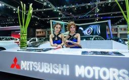 Oidentifierad modell på det Mitsubishi båset Fotografering för Bildbyråer