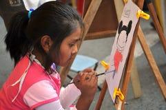 Oidentifierade barn på ferie i staden av La Paz Royaltyfri Fotografi