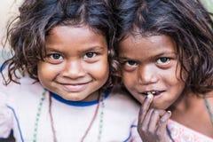 Oidentifierade indiska flickor Royaltyfria Bilder