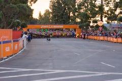Oidentifierade löpare i början av den 30th LAmaraton Editio Royaltyfria Foton