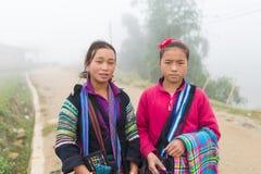 Oidentifierat Hmong barn i Sapa, Vietnam Fotografering för Bildbyråer