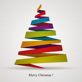 Oigami style Christmas tree. Stock Images