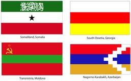 oigenkännliga flaggatillstånd Arkivbild