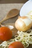 Oignon avec la tomate Photo libre de droits