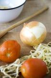Oignon dans la cuisine Photographie stock libre de droits
