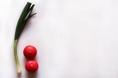 Oignon et radis de ressort Photographie stock