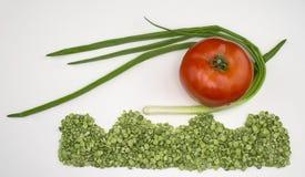 Oignon et tomate secs de pois Photo libre de droits